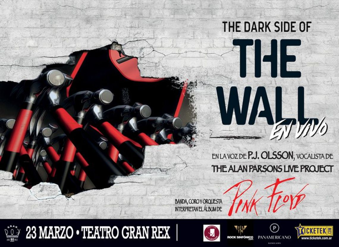 THE DARK SIDE OF THE WALL, 23 DE MARZO, 20.30 HS. TEATRO GRAN REX